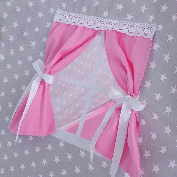 Lulando Namiot TIPI białe gwiazdki + różowy
