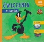 Ćwiczenia 4-latka Looney Tunes 40 naklejek