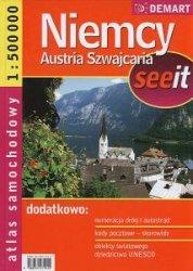 Niemcy Austria Szwajcaria atlas samochodowy 1:500 000