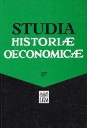 Studia historiae oeconomicae Volume 27