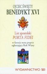 List Apostolski Porta Fidei Benedykt XVI