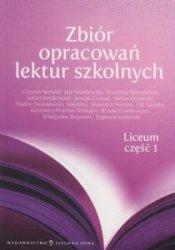 Zbiór opracowań lektur szkolnych Liceum część 1