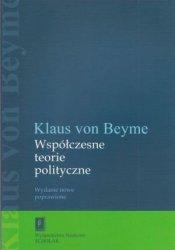 Współczesne teorie polityczne Klaus von Beyme