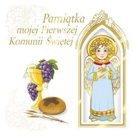 Pamiątka mojej Pierwszej Komunii Świętej z aniołkiem