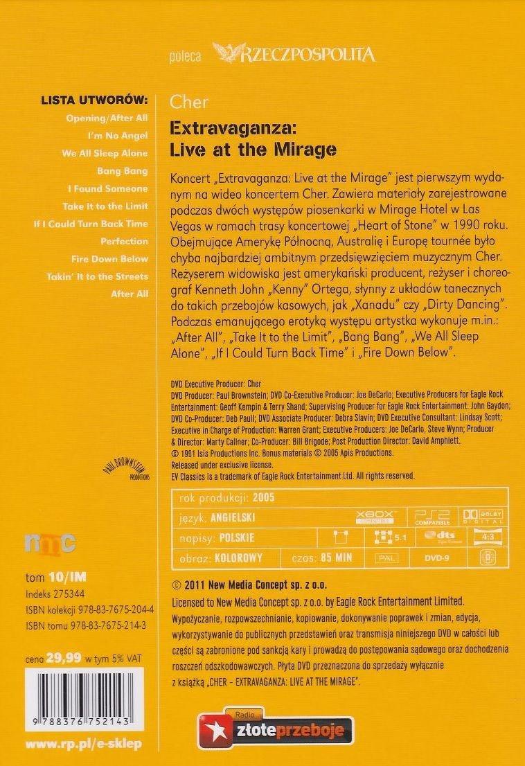 Cher Extravaganza: Live at the Mirage książka + koncert