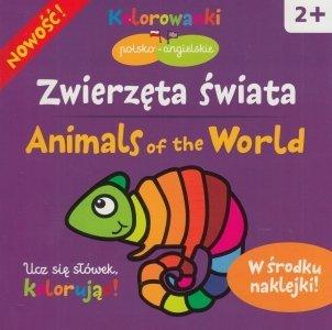 Zwierzęta świata Animals on the World Kolorowanki polsko-angielskie