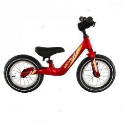 Rowerek biegowy T207 Czerwony Pompowane Koła #D1