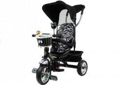 Rowerek trójkołowy Pro300 Czarny Koła Eva #C1