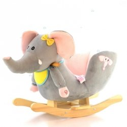 Zabawka Słoń Bujany #D1 Szary