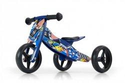 Rowerek 2w1 trójkołowy + biegowy Jake Blue Cars #B1