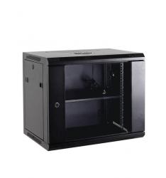 Netrack szafa wisząca 19'', 12U/600x450mm – szary, drzwi szklane, otwierane boki