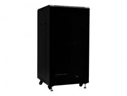 NETRACK 019-220-66-112-Z Netrack szafa serwerowa RACK 19 22U/600x600mm, ZŁOŻONA,drzwi perforowane,czarna