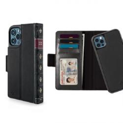 Twelve South BookBook - etui skórzane z klapką do iPhone 12/12 Pro kompatybilne MagSafe (czarne)
