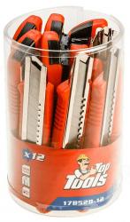 Top Tools Nóż z ostrzem łamanym 18 mm, zestaw 12szt