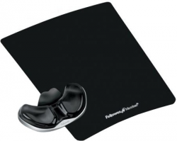 Fellowes - CRYSTAL - podkładka Health-V pod mysz i nadgarstek PALM, czarna
