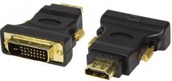 Adapter LOGILINK HDMI - DVI-D HDMI (wtyk) - DVI-D (gniazdo) AH0001