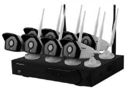 Zestaw do monitoringu rejestrator NVR 8 kanałowy WiFi + 8 kamer  IP WiFi 2Mpx z akcesoriami