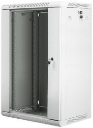 Szafa instalacyjna wisząca 19'' 18U 600X450mm szara (drzwi       szklane)