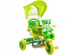 Rowerek trójkołowy Kotek Śliczny Melodie Zielony #C1
