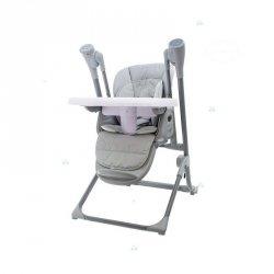 Krzesełko do Karmienia Huśtawka Ty868 Szary #D1