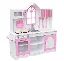 Drewniana Kuchnia Dla Dzieci RETRO PINK   #ZZ2