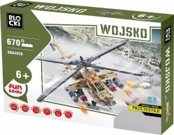 Klocki Blocki Wojsko Helikopter Wojskowy 670 el.