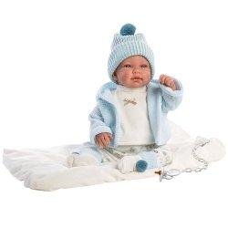 Hiszpańska lalka bobas chłopiec Tino – płacze 44cm  #T1