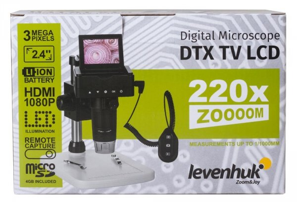 Mikroskop Cyfrowy Levenhuk DTX TV LCD