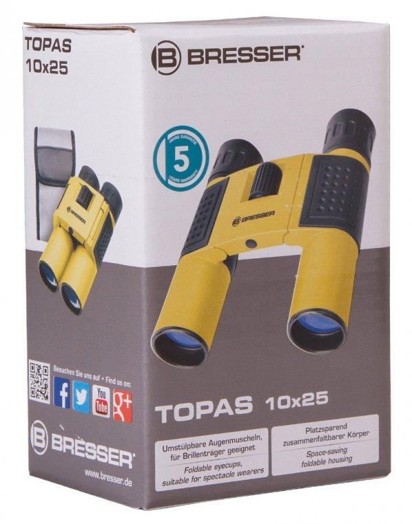 Lornetka Bresser Topas 10x25, żółty