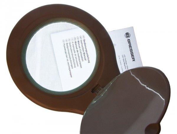 Lupa biurkowa Bresser 2х125 mm z oświetleniem
