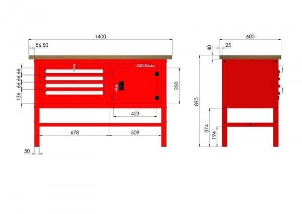 P-3-042-01 Stół warsztatowy