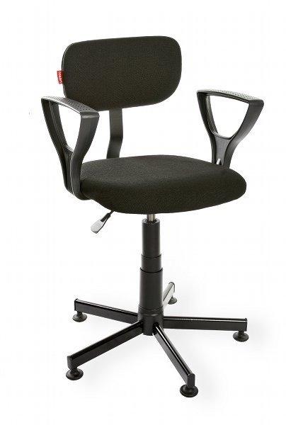 Krzesło laboratoryjne z podłokietnikiem Black 01 PD RKW-11
