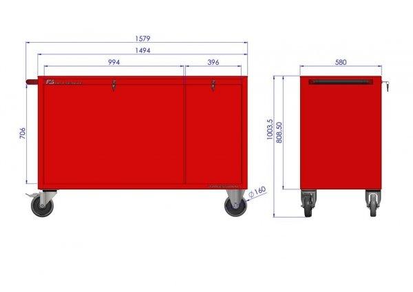Wózek narzędziowy MEGA z 19 szufladami PM-210-11