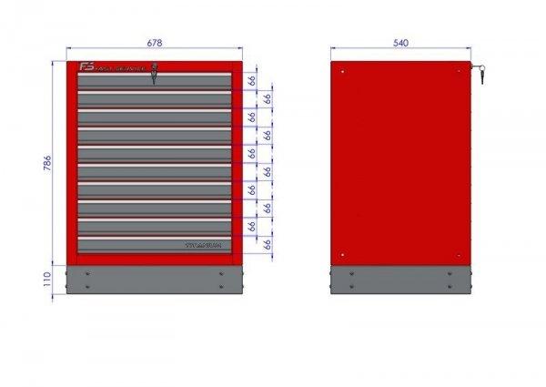 Stół narzędziowy z 10 szufladami wymiary