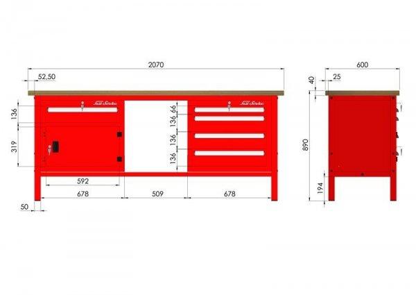 P-3-138-01 Stół warsztatowy