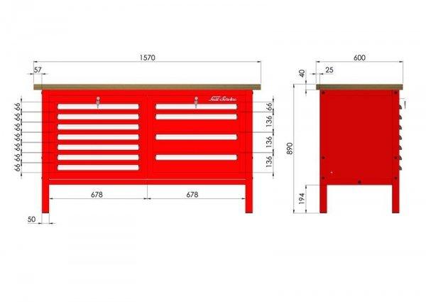 P-3-064-01 Stół warsztatowy