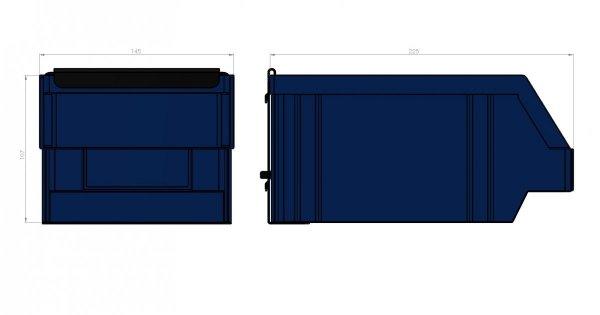 Zawieszka na pojemnik P3 145 x 225 x 107 ZW-P3