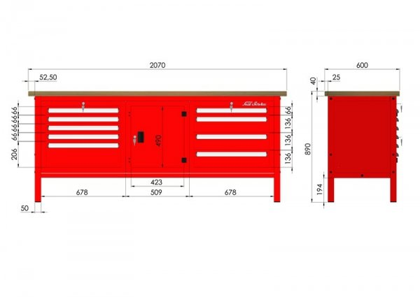 P-3-162-01 Stół warsztatowy