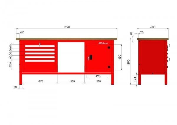 P-3-152-01 Stół warsztatowy