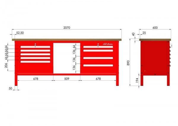 P-3-132-01 Stół warsztatowy
