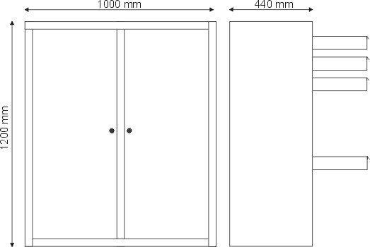 Szafa narzędziowa 2 drzwiowa S-3-04-00