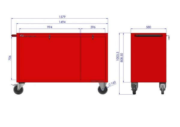 Wózek warsztatowy MEGA z 10 szufladami PM-217-23