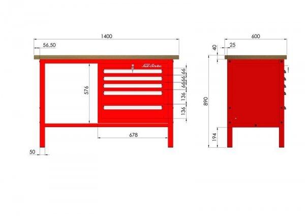 P-3-051-01 Stół warsztatowy
