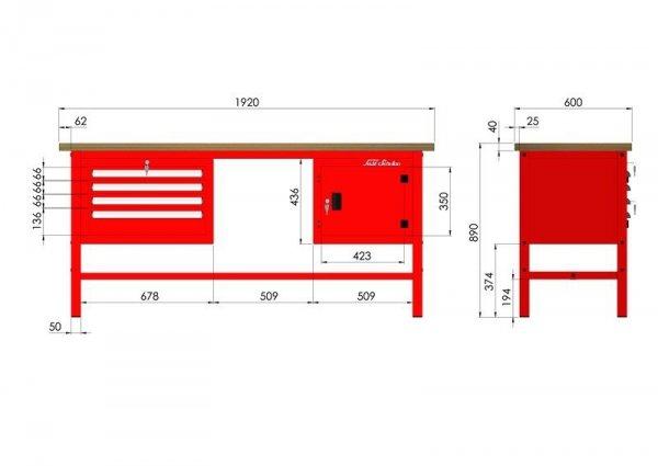 P-3-102-01 Stół warsztatowy