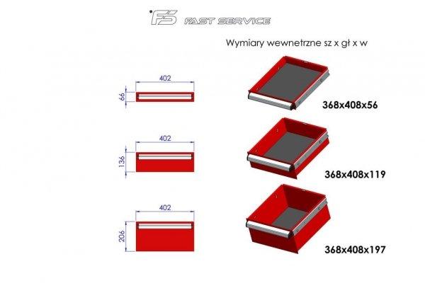 Wózek warsztatowy MEGA z 13 szufladami PM-216-21