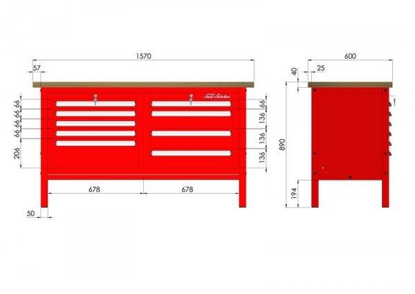 P-3-062-01 Stół warsztatowy