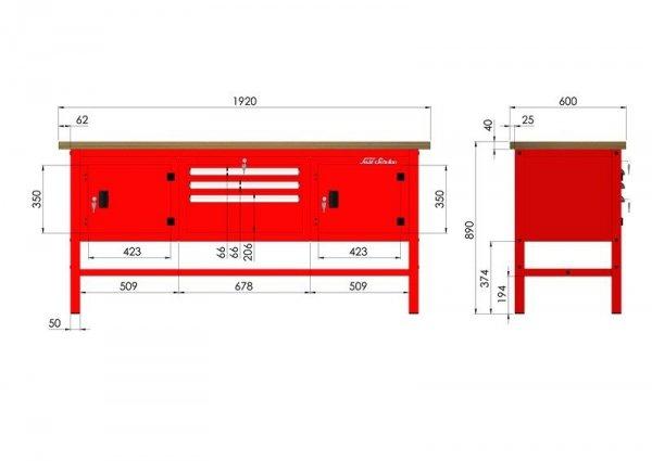P-3-121-01 Stół warsztatowy
