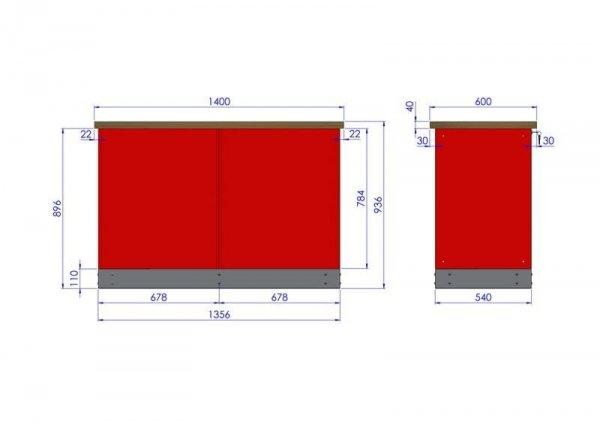 Stół warsztatowy – TK-16-40-01