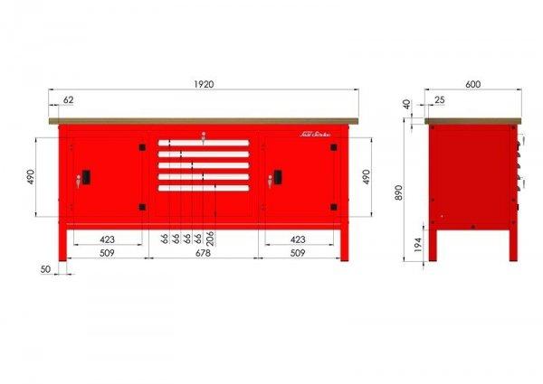 P-3-172-01 Stół warsztatowy