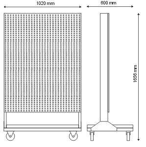 Stojak narzędziowy cały wykonany z kratownicy (jednostronny) P-5-05-02